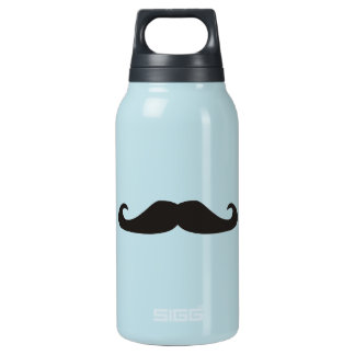 Retro gentelman mustaches hipsters insulated water bottle