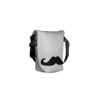 Retro gentelman mustaches hipsters Messenger Bag