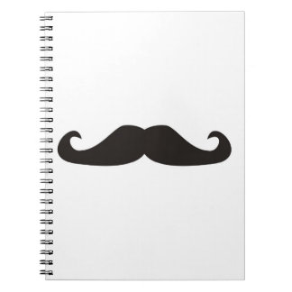 Retro gentelman mustaches hipsters notebook