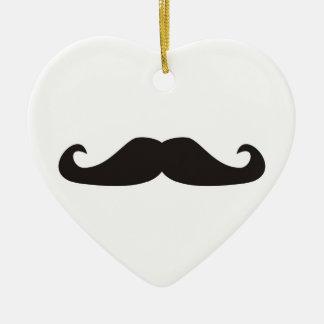 Retro gentelman mustaches hipsters ornament