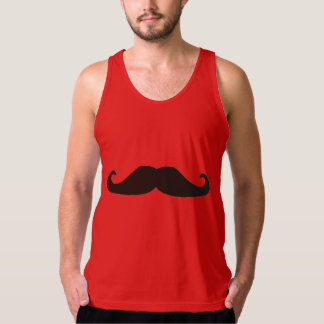 Retro gentelman mustaches hipsters Tank Top tshirt
