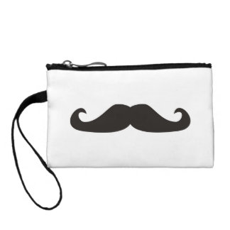 Retro gentelman mustaches hipsters Wristlets