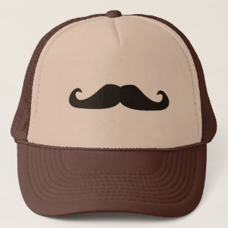 Retro gentelman mustaches illustration trucker hat