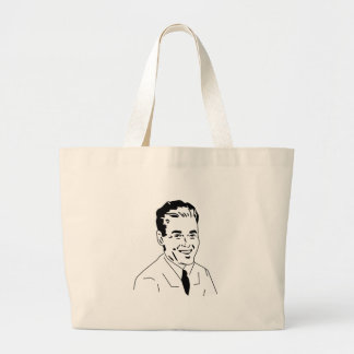 Retro Gentleman 50s Guy Jumbo Tote Bag