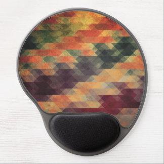 Retro Geometric Bold Stripes Worn Colors Gel Mouse Pad