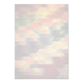 Retro Geometric Bold Stripes Worn Colors 13 Cm X 18 Cm Invitation Card