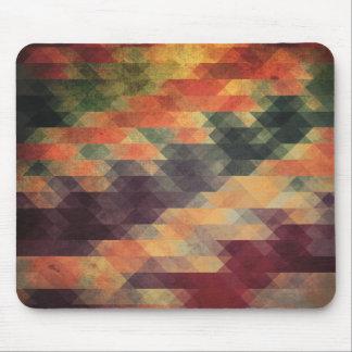 Retro Geometric Bold Stripes Worn Colors Mouse Pad