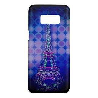 Retro Geometric circles purple paris eiffel tower Case-Mate Samsung Galaxy S8 Case