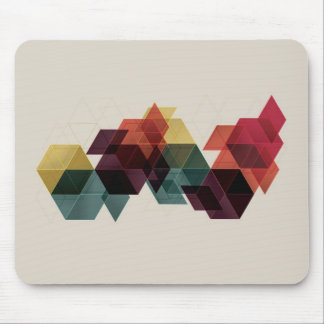 Retro Geometric Cube Background Mouse Mat