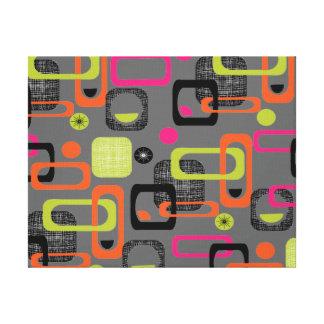 Retro Geometric Funky Graphic Design Gallery Wrap Canvas
