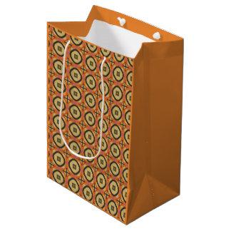 Retro Geometric Medium Gift Bag