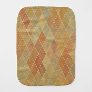 Retro geometric pattern 2 burp cloth