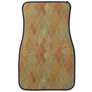 Retro geometric pattern 2 car mat