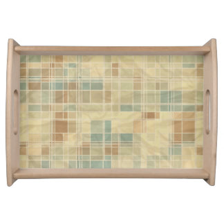 Retro geometric pattern 2 serving tray