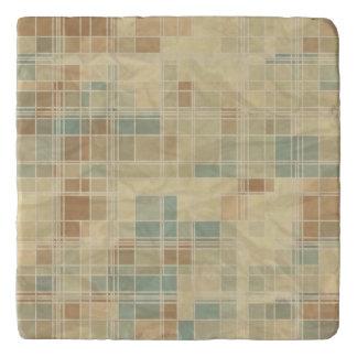 Retro geometric pattern 2 trivet