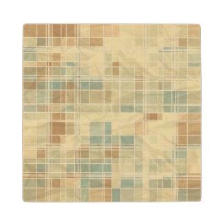 Retro geometric pattern 2 wood coaster