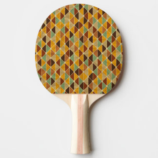 Retro geometric pattern 3 ping pong paddle