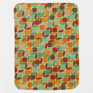 Retro geometric pattern 4 2 baby blankets