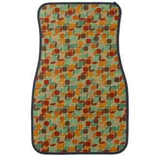 Retro geometric pattern 4 2 car mat