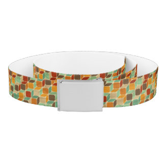 Retro geometric pattern 4 belt