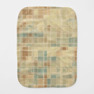 Retro geometric pattern 4 burp cloth