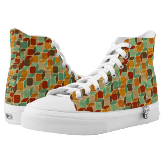 Retro geometric pattern 4 high tops