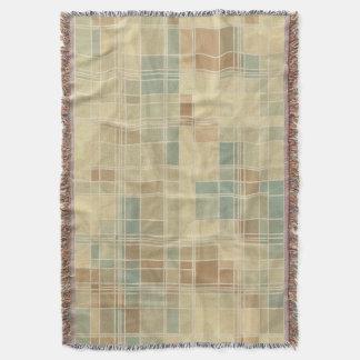 Retro geometric pattern 4 throw blanket