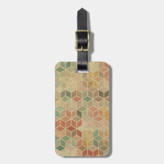 Retro geometric pattern 5 luggage tag