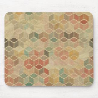 Retro geometric pattern 5 mouse mat