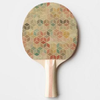 Retro geometric pattern 5 ping pong paddle