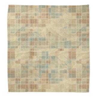 Retro geometric pattern bandana