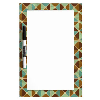 Retro geometric pattern dry erase board