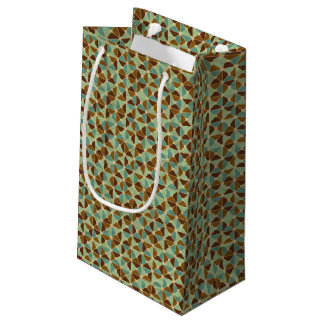 Retro geometric pattern small gift bag