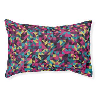 Retro Geometric Pinwheel Pattern Pet Bed