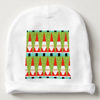 Retro Geometric Santa Baby Hat Baby Beanie