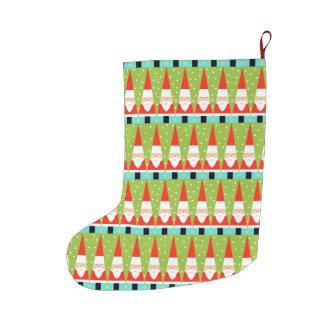 Retro Geometric Santa Christmas Stocking