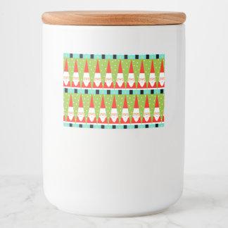 Retro Geometric Santa Food Container Labels