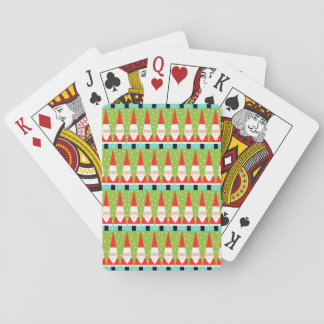 Retro Geometric Santa Playing Cards