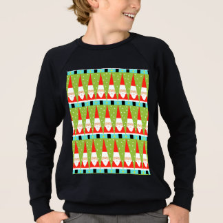 Retro Geometric Santa Sweatshirt
