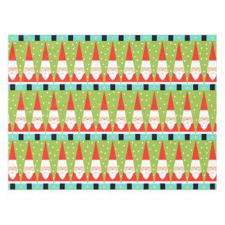 Retro Geometric Santa Tablecloth