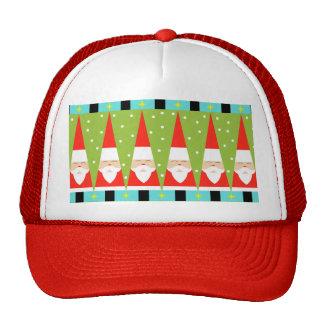 Retro Geometric Santa Trucker Hat