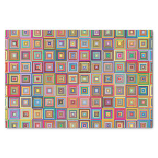 Retro Geometric Tile Pattern Tissue Paper