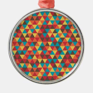 Retro Geometric Triangles Christmas Ornament