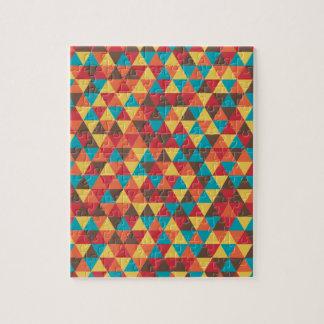Retro Geometric Triangles Jigsaw Puzzle