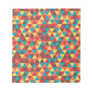 Retro Geometric Triangles Notepad