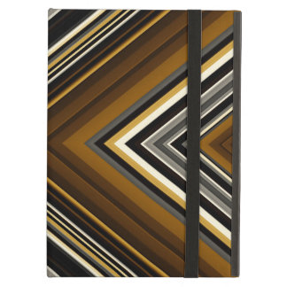Retro geometric triangles pattern in earth tones iPad air case
