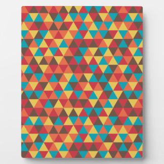 Retro Geometric Triangles Plaque