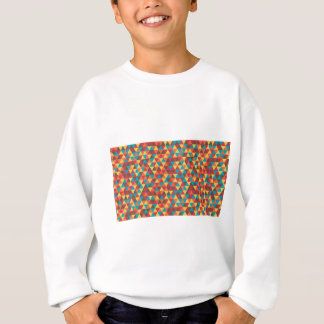 Retro Geometric Triangles Sweatshirt