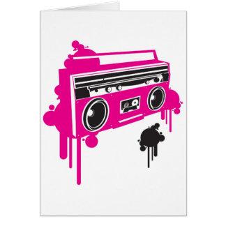 retro ghetto blaster stereo design greeting card