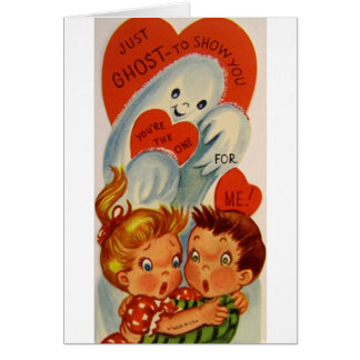 Retro Ghost Valentine's Day Card